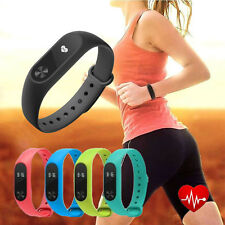 Smart Watch Mi 2 Wristband Heart Rate Monitor Step Time Counter Tracker Touch
