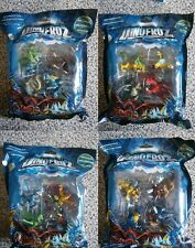 DINOFROZ - Plastic Bag Set with 4 figures & 4 cards (4 different variations) NEW