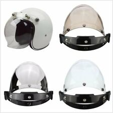 3-Snap Button Bubble Visor Flip Up Wind Face Shield Lens for Motorcycle Helmet 3