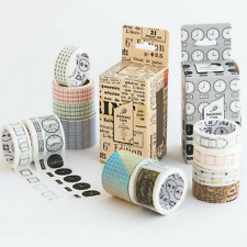 4 Pc Pack Color of Time Washi Tape Various Styles, Nature Time Deco Masking Tape