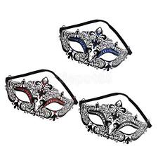 Laser-cut Metal with Rhinestone Venetian Masquerade Mask for Evening Ball