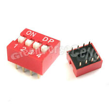 20  4 Position Ways Slide Style DIP Switch 2.54mm Pitch Gold Tone 8 Pin PCB Code