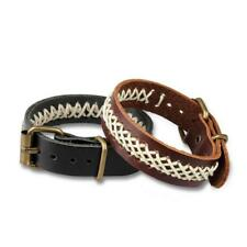 Men Retro Braided Black Brown Leather Bracelet Cuff Bangle Wristband Jewelry