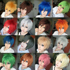 Short Pixie Hair Wigs Cosplay Anime Party Fluffy Straight Cool Women Mens Wig ly