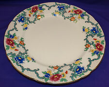 "VINTAGE ROYAL CAULDON ENGLAND VICTORIA 10 3/4"" DINNER PLATE BEAUTIFUL FLORAL #1"