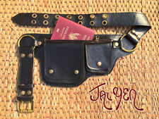 Leather Utility Belt Bag-The Hipster-Passport Belt,Iphone Pocket,Festival Pouch