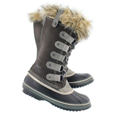 SOREL Womens 7 Joan Of Arctic Boots Winter Snow Cold Weather Fur Trim Shale Gray