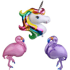 Large Cute Flamingo Unicorn Aluminum Foil Balloon Hawaiian Luau Party Decora