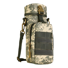 Outdoor Molle Water Bottle Pouch Kettle Carrier Holder Bag With Shoulder Strap
