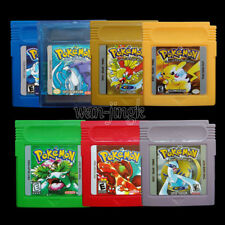 1/7 Pcs New Game Cards For Nintendo Pokemon GBC Game Boy Color Version Popular