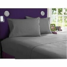 1000 TC EGYPTIAN COTTON ELEPHANT GREY BEDDING ITEMS EXTRA DEEP POCKET FITTED