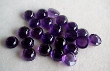 3mm to 10mm Natural Amethyst Round Cabochon Calibrated Purple Color Gemstones
