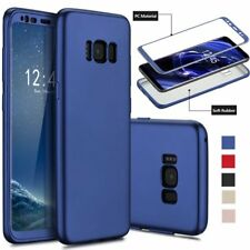 Hybrid 360° Hard Case +Tempered Film Cover For Samsung Galaxy S8 S7 Edge S8 Plus