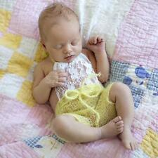 Newborn Baby Girls Lace Rompers Sunsuit Photography Props Jumpsuits
