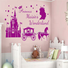 Princess Castle Customized Girls Name Decal Vinyl Text Personalized Wall Sticker
