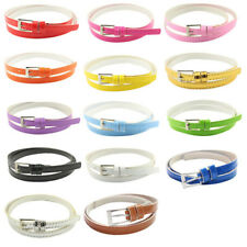 Women Female Multi-color Belt Small Candy Color Thin Leather Belts Beautiful
