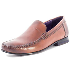 Ted Baker Simeen 3 Mens Brown Leather Casual Loafers Slip-on Genuine Shoes