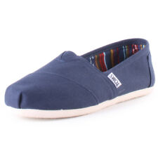Toms Classic Womens Blue Canvas Casual Slip On Slip-on Genuine Shoes New Style