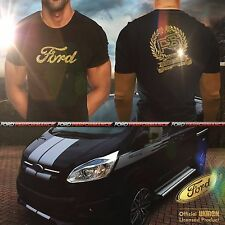 UKIRON *Licensed LIMITED EDITION - Ford TRANSIT CUSTOM RS* T-Shirt top 170 155