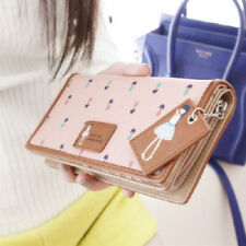Women Synthetic Leather Wallet Lady Long Card Holder Handbag Bag Clutch Purse TP