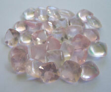 4mm - 14mm Natural Rose Quartz Cushion Calibrated Size Pink Color Loose Gemstone
