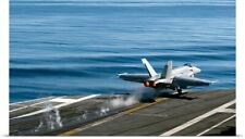 Poster Print Wall Art entitled An F/A 18E Super Hornet launches from the flight