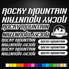 Rocky Mountain Vinyl Decal Stickers Sheet Bike Frame Cycles Cycling Bicycle Mtb