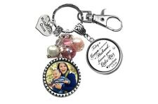 Mother of the Groom Keychain with Photo & Personalized Quotes - Wedding Gift