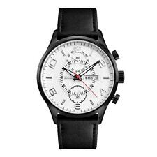 Skmei Leather Watch Quartz Movement Wristwatch Calendar Round Dial Sports Work