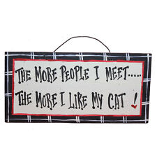 IM's CountrysideFunny,Dog and Cat-Themed Wooden Sign American Made/Hand Painted