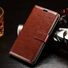Flip Magnetic Credit Card Holder Wallet Leather Case Cover For iPhone Samsung  B