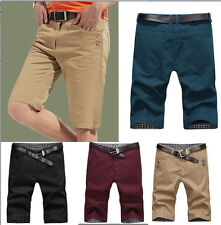 Men's Summer Casual Short Pants Trousers Cotton Baggy Shorts Pockets Cargo