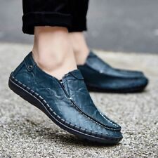 Men's Driving Casual Boat Shoes Real cow Leather Shoes Moccasin Slip On Loafers