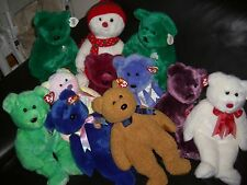 W-F-L TY Beanie Buddy 11 13/16in Teddy large selection Bear