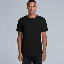12 X Mens Plain 100% Cotton Blank T-shirt Tee Black Bulk Cheap Wholesale 145 GSM