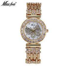 Miss Fox Luxury Brand Butterfly Women Watch Fashion Diamond Female Steel Watches