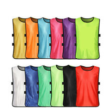 Team Scrimmage Soccer Basketball Training Pinnies Jerseys Sport Vest Adult Child
