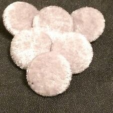 Silver Crushed Velvet Buttons, 16mm, 20mm, 25mm, 31mm, Small, Medium & Large