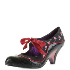 Womens Poetic Licence Schools Out Black Red Mid Heel Shoes Shu Size