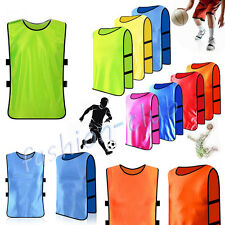 Kids/Adult Team Gym Football Soccer Rugby Jerseys Training Fluorescent Vest Tops
