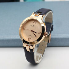 Fashion Style Womens Minimalist Luxury Quartz Watches Leather Wristwatch Genuine