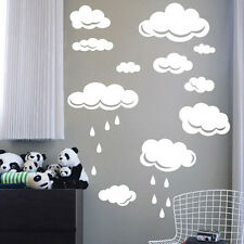 Rain Drops clouds large wall sticker Decal girls boys ROOM AFC4 DECAL DECOR