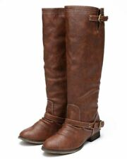 Breckelles Outlaw-81 Western Riding Esquarian Knee High Tan Boot