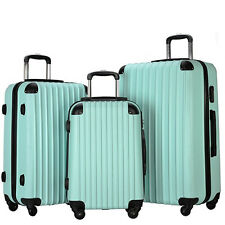 3 Piece Travel Carry on Luggage Set ABS Spinner Wheel Trolley Bag Suitcase +Lock