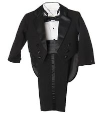 Caldore USA Infant Boys Regular 5 Piece Tuxedo Outfit Set with Tail