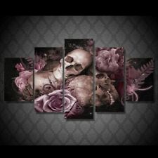Skulls and Roses Wall Art on Canvas Print