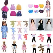 Tops Jeans Dress Clothes for 18'' American Girl Our Generation My Life Doll Accs