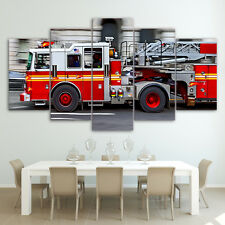 Fire Engine Canvas Picture Painting Abstract Wall Art Modern Poster Home Decor