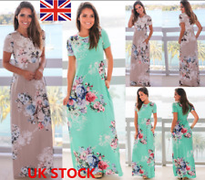Boho Women Floral Maxi Dress Summer Beach Cocktail Evening Party Long Sundress