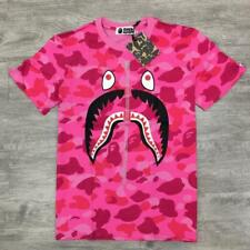 Unisex Bape Classic Camo Shark Jaw Japan Fake Zipper A Bathing Ape T-Shirt ape